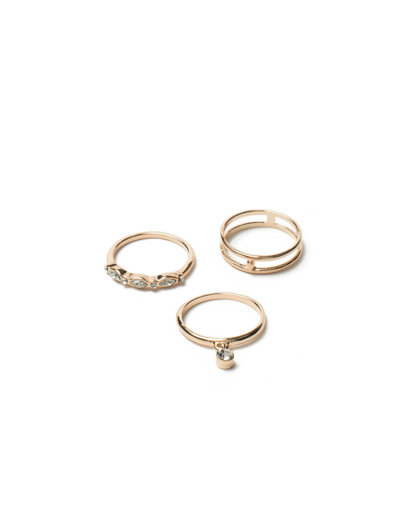 Diamante Link Ring Pack - Small