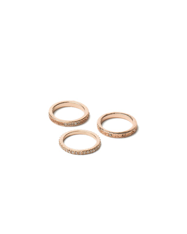 Diamante Band Ring Pack - Large