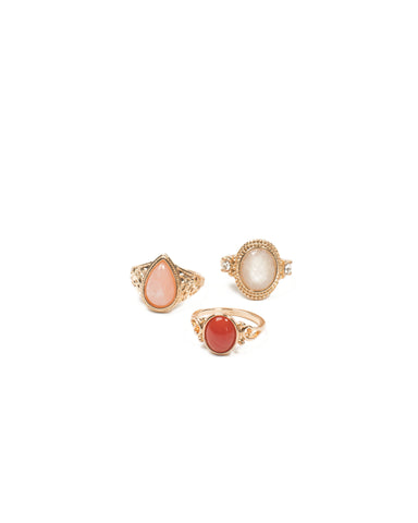 Stone Cocktail Ring Pack - Small