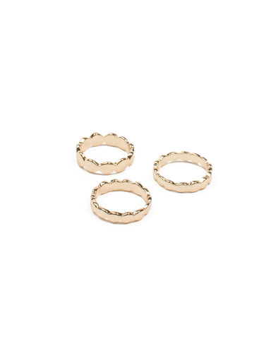 Gold Metal Dot Ring Pack - Medium