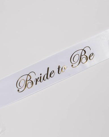 Bride To Be Bridal Party Sash