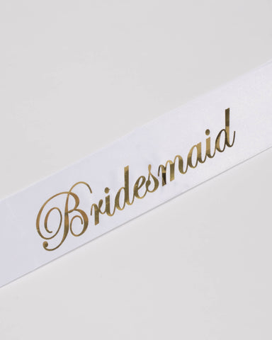 Bridesmaid Bridal Party Sash