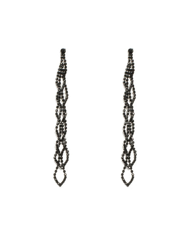 Diamante Cup Chain Twisted Drop Earrings