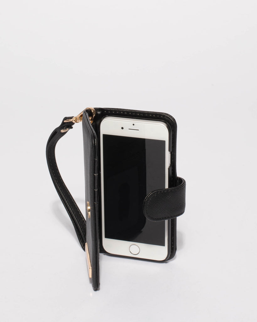 Black Saffiano Iphone 6, 7 & 8 Purse