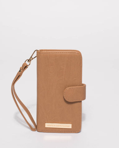 Caramel Smooth Iphone 6, 7 & 8 Plus Purse