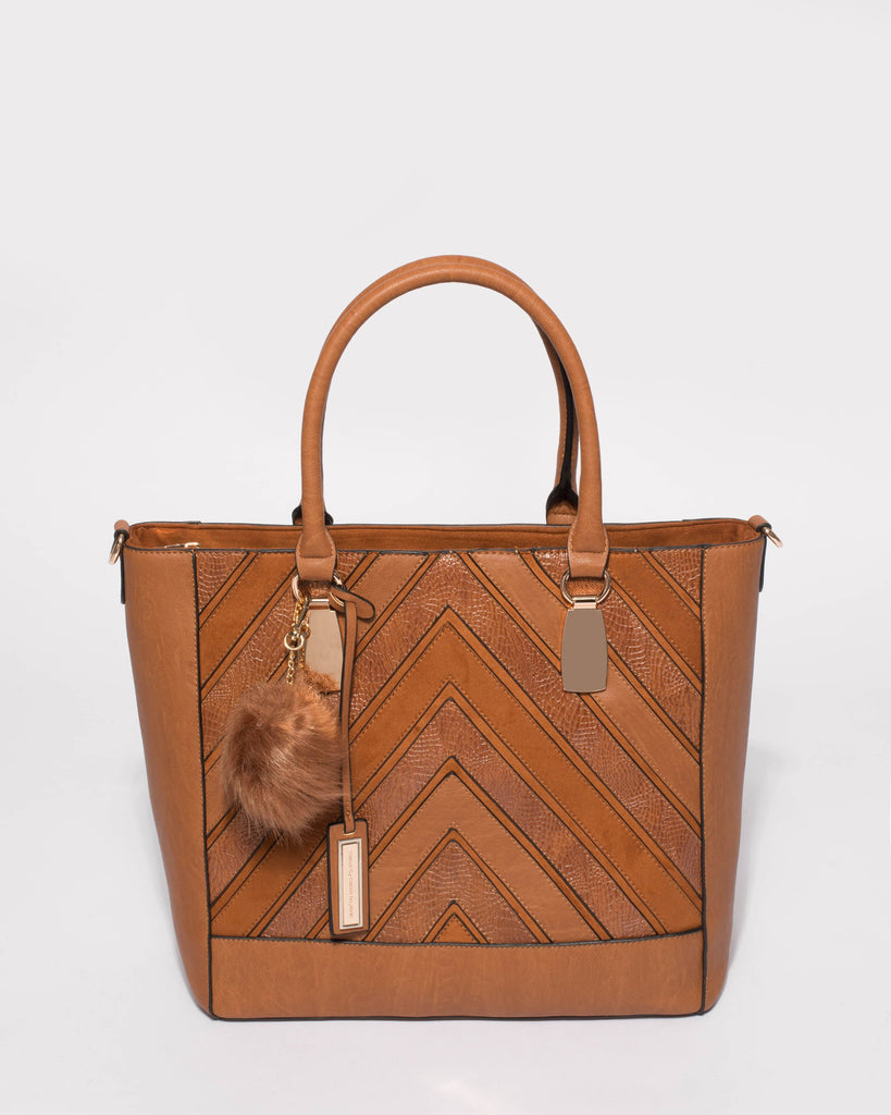 Tan Textured Addie Limited Edition Tote