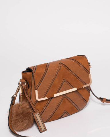 Tan Textured Addie Limited Edition Crossbody