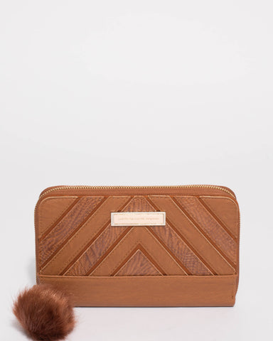 Addie Tan Textured Travel Wallet