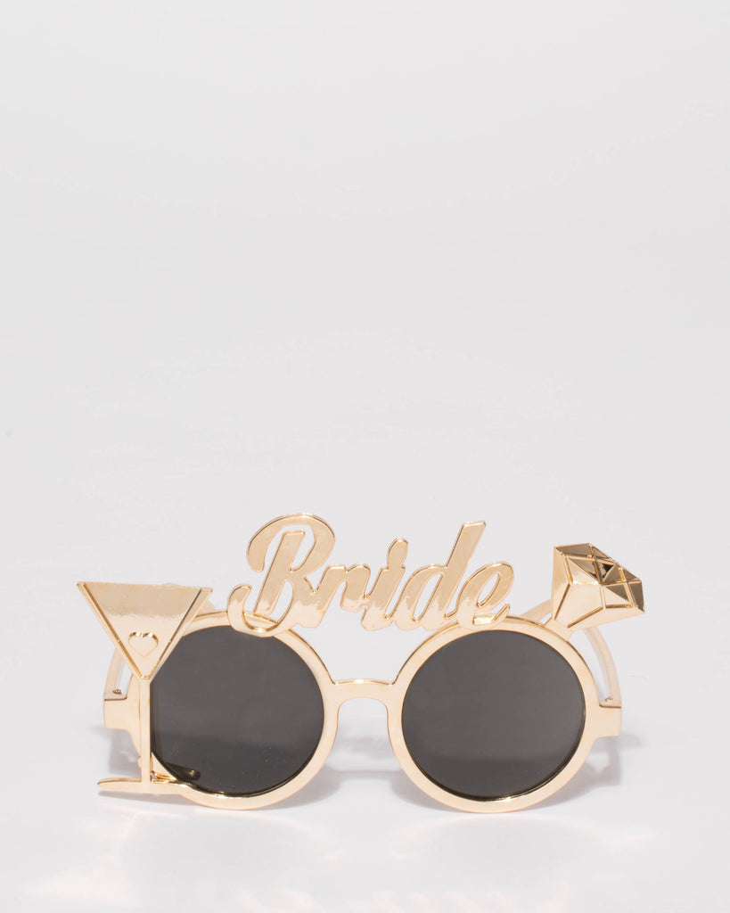 Gold Bride Party Glasses