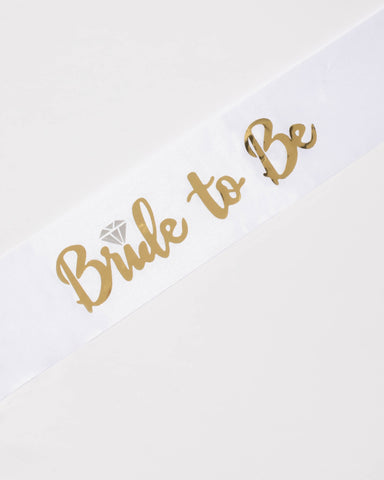 Bride To Be Gold Sash