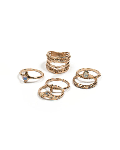 Multi Gold Layer Ring Stack - Large