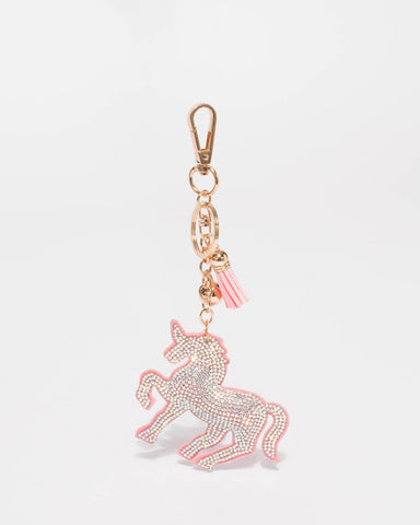 Diamante Unicorn Keyring
