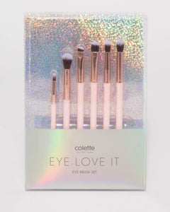 Pink Rose Gold Eye Cosmetic Brush Set