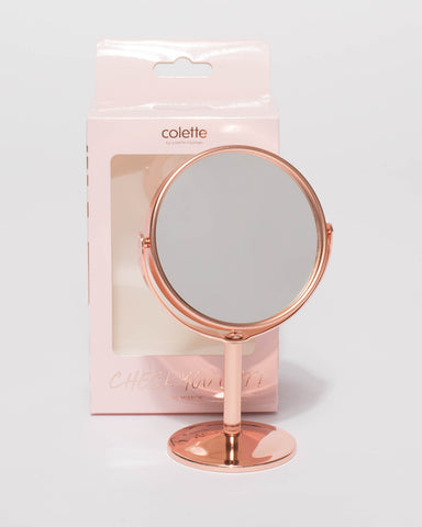 Rose Gold Mini Mirror Stand