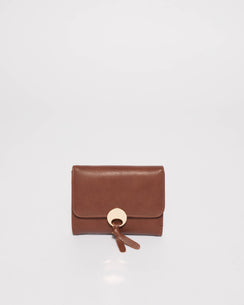 Sophia Smooth Tan Tassel Mini Wallet