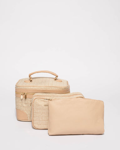 Cosmetic Natural Weave Case Pack