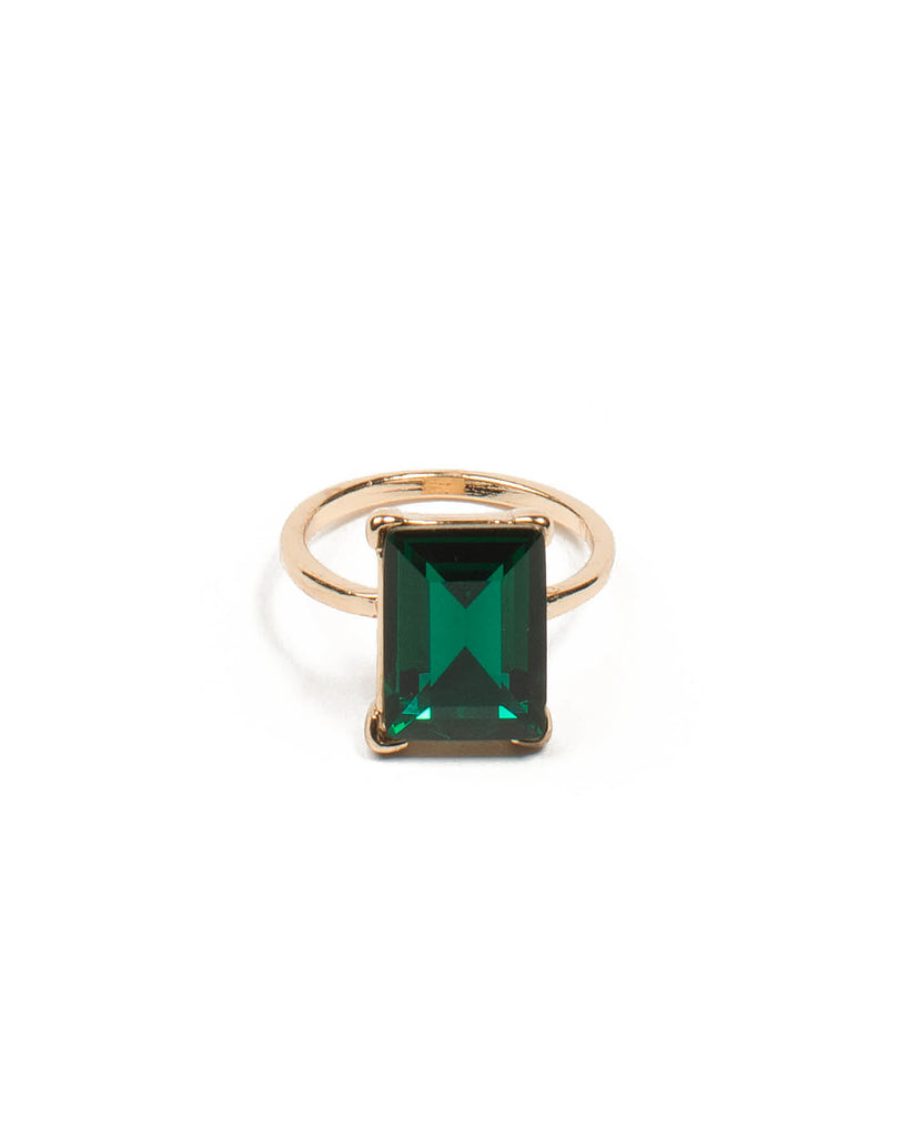 Emerald Cocktail Gold Ring - Medium