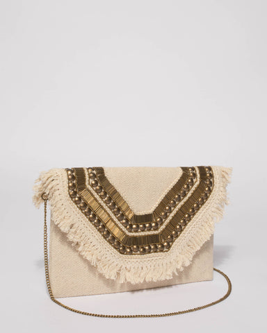 Natural Pia Clutch Bag