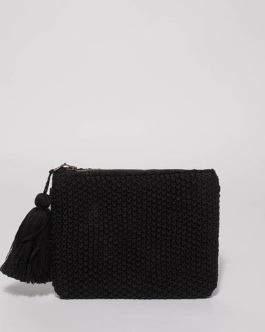 Black Harlow Clutch Bag