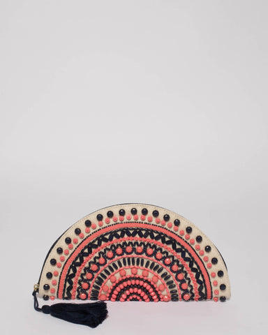 Multi Colour Freya Embellished Clutch Bag