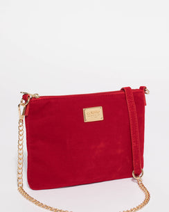 Red Velvet Peta Chain Crossbody Bag