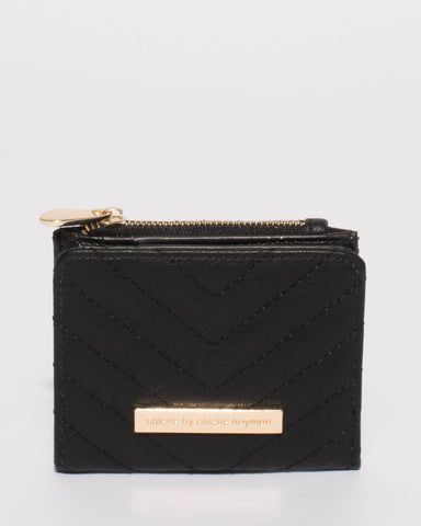 Black Quilted Han Mini Wallet