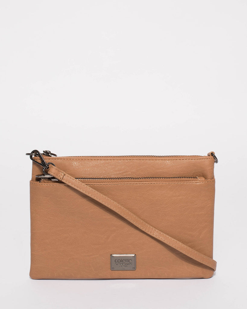 Caramel Demi Double Crossbody Bag