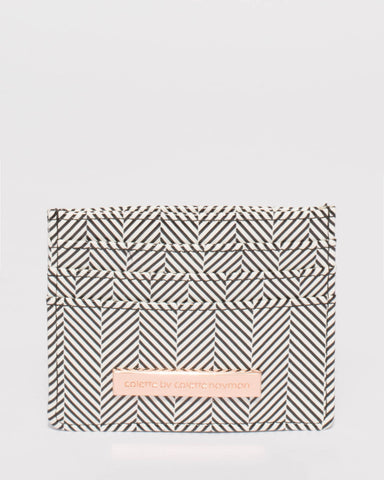 Mila Monochrome Textured Card Purse