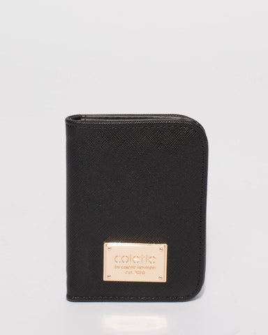 Black Saffiano Est Credit Card Purse