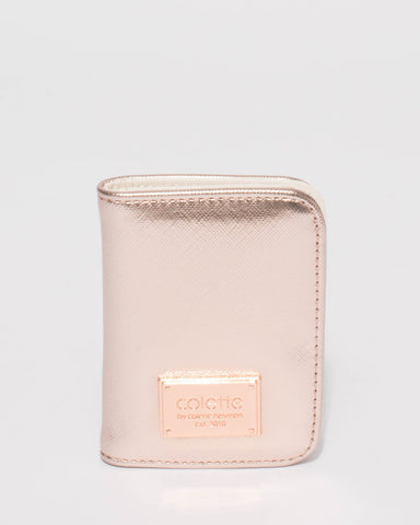 Rose Gold Est Credit Card Purse