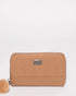 Caramel Nina Travel Wallet With Gunmetal Hardware