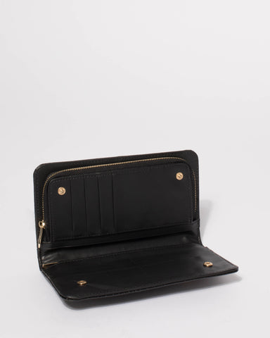 Black Elsie Bug Zip Wallet