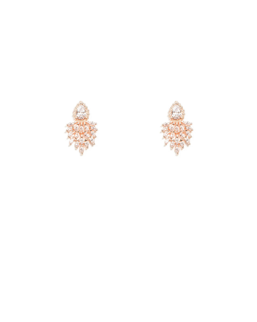 Cubic Zirconia Mini Marquise Stone Stud Earrings