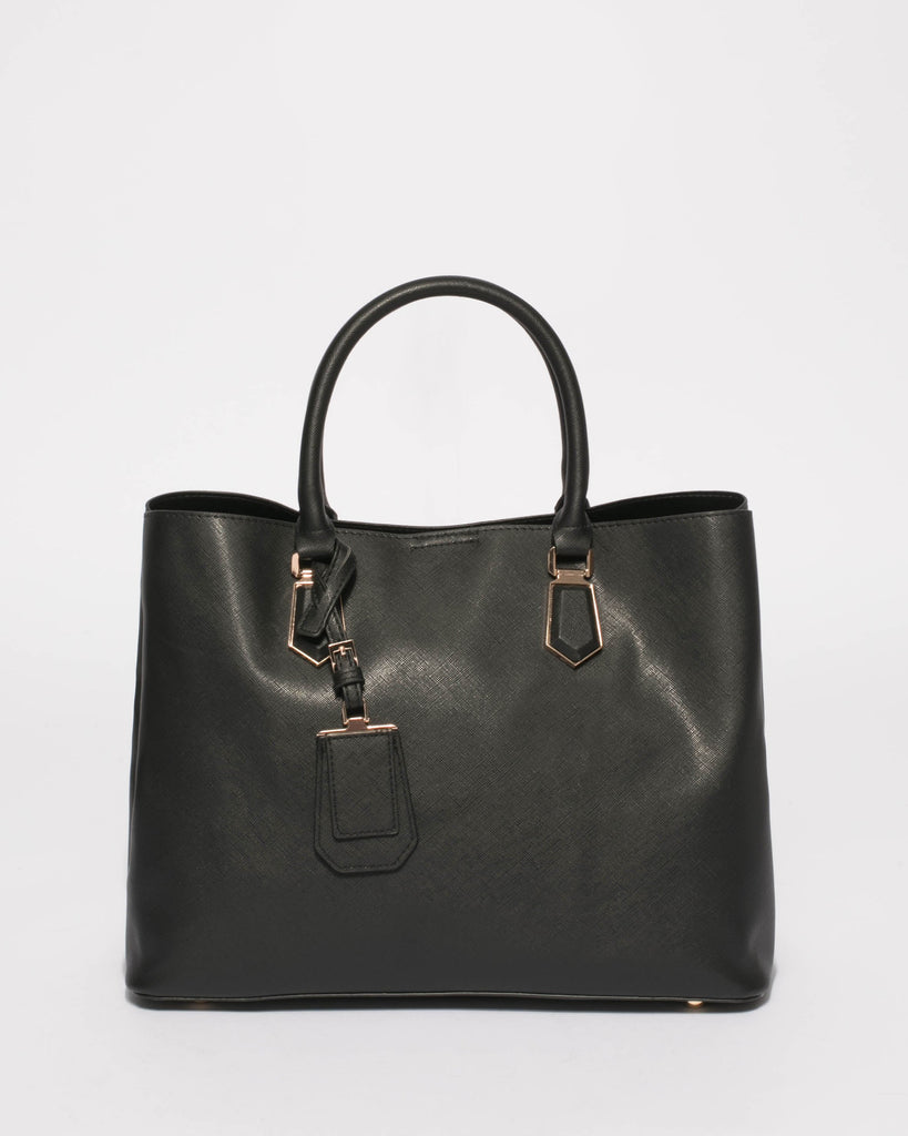 Black Tori Tag Tote Bag