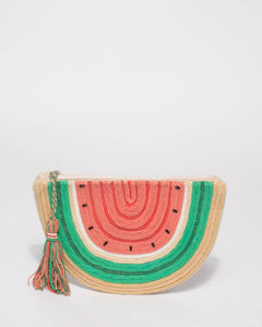 Multi Colour Watermelon Tassel Clutch Bag