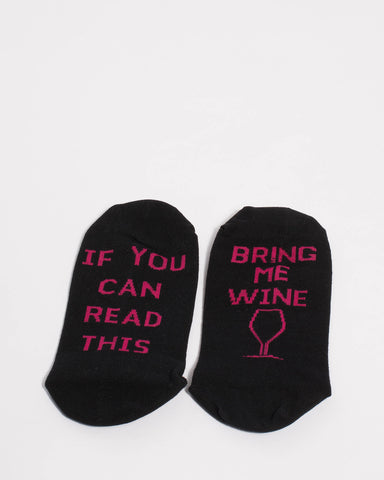 Black Wine Novelty Socks
