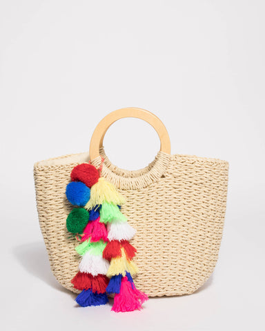 Natural Eva Soft Weave Basket Tote Bag