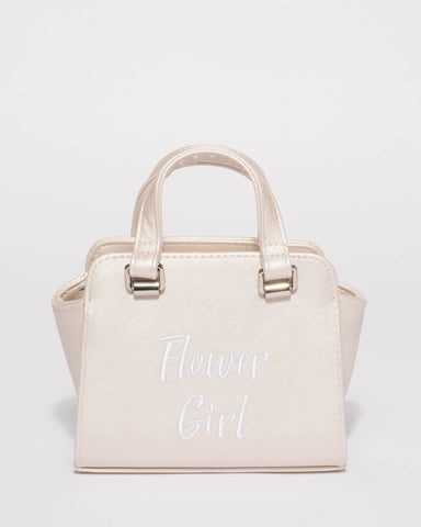Ivory Flower Girl Mini Tote Bag