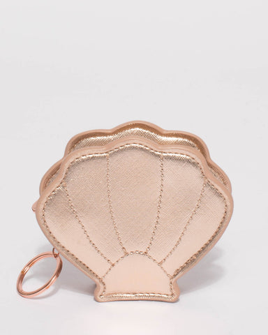 Rose Gold Small Shelly Keyring Purse
