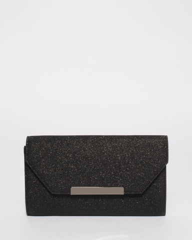 Black Sophia Evening Clutch Bag