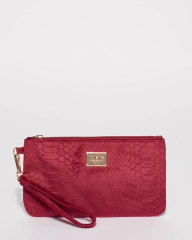 Burgundy Brook Wristlet Purse