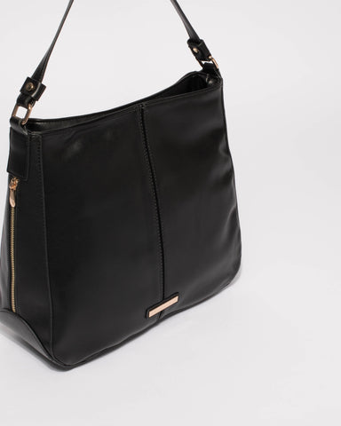 Black Lou Slouch Tote Bag