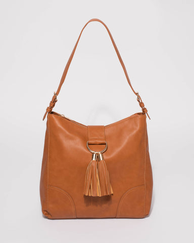 Tan Maggie Slouch Tote Bag