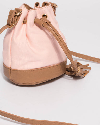 Pink Junior Tali Drawstring Mini Bucket Bag
