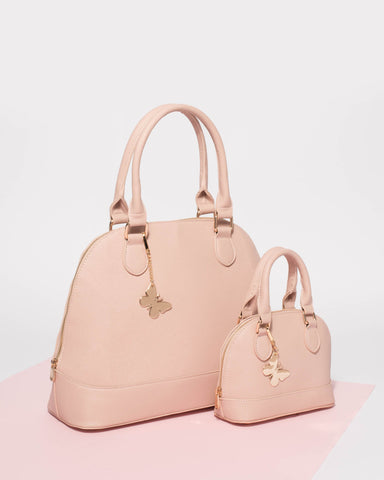 Pink Large Britta Bowler Bag