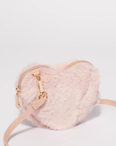 Pink Kids Love Heart Crossbody Bag