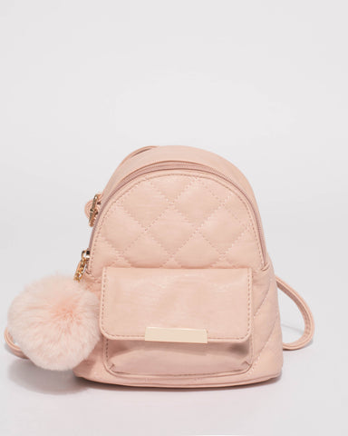 Pink Junior Quilted Mini Backpack