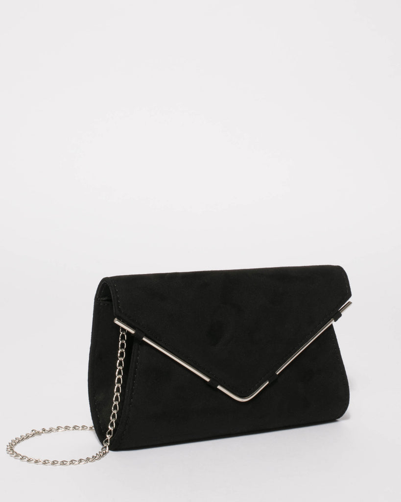 Black Stephanie Clutch Bag