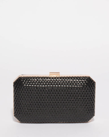 Black Audrey Hardcase Clutch Bag