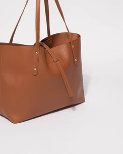 Tan Large Basic Tote Bag